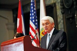 Prezes Izby Handlowej USA Thomas Donohue fot.Alejandro Ernesto/PAP/EPA