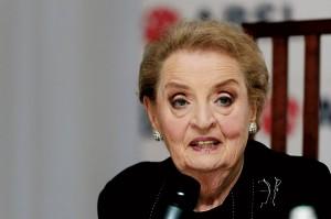 Była sekretarz stanu USA Madeleine Albright  fot.Jakub Kaczmarczyk/PAP/EPA