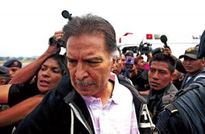 Były prezydent Gwatemali Alfonso Portillo   fot.Saul Martinez/PAP/EPA