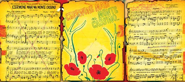 """Oryginalne, archiwalne wydanie """"Czerwonych maków na Monte Cassino"""" fot.arch. Barbary Chałko"""