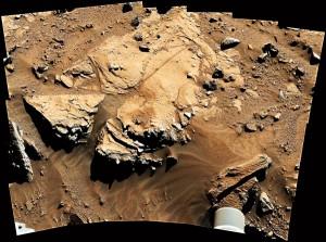 Krater na Marsie fot.NASA/JPL-Caltech/Handout/PAP/EPA
