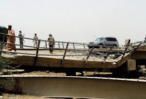 Posterunek kontrolny policji w Nigerii fot.STR/PAP/EPA