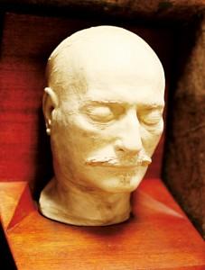 Maska pośmiertna Paderewskiego fot.J.Siegel/MPA