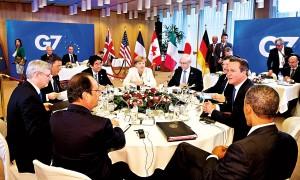 Obrady podczas szczytu G7 w Brukseli fot.Bernd Von Jutrczenka/PAP/EPA