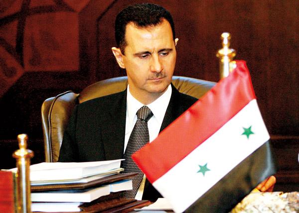 Prezydent Syrii Baszar el-Asad fot.Nabil Mounzer/PAP/EPA
