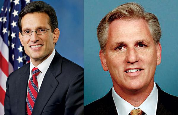 Eric Cantor (z lewej) i enator Kevin McCarthy fot.United States House of Representatives/Blueboy96/Wikipedia