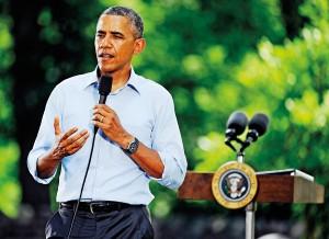Prezydent Barack Obama fot.Craig Lassig/EPA