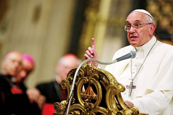 Papież Franciszek fot.Riccardo Antimiani/EPA