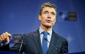 Sekretarz generally NATO Anders Fogh Rasmussen for/Olivier Hoslet/EPA