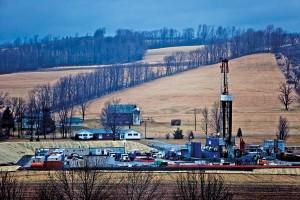 Wydobycie gazu łupkowego w miasteczku Troy w Pensylwanii fot.Jim Lo Scalzo/EPA