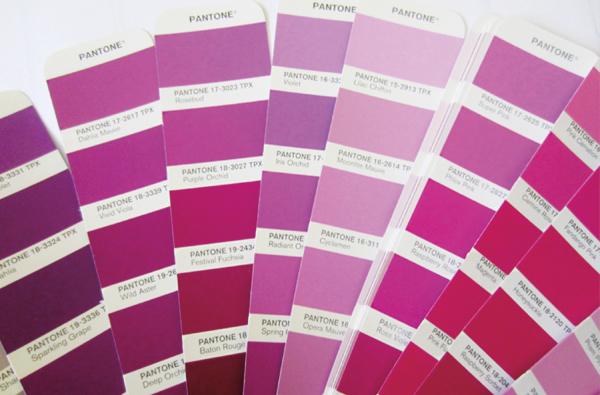"""Kolor """"Radian Orchid"""" na wachlarzu malarskim firmy Pantone"""