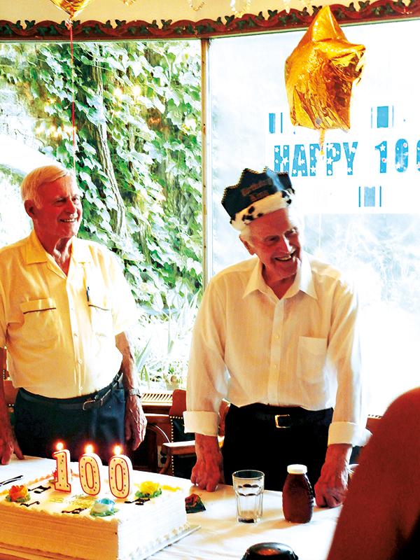 Aleksander Łabno (z prawej) fot.arch. rodzinne
