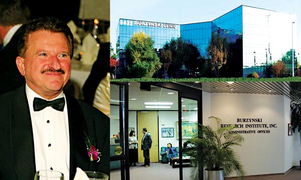 Stanisław Burzyński i jego klinika w Houston fot.Facebook