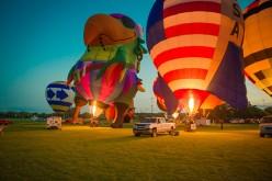 Oczy zwrócone na niebo. Festiwal balonowy w Lisle zatykał dech w piersi. ZOBACZ ZDJĘCIA DARIUSZA LACHOWSKIEGO
