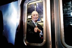 Były burmistrz Nowego Jorku Michael Bloomberg fot.Peter Foley/EPA