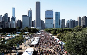 Taste of Chicago food festival.