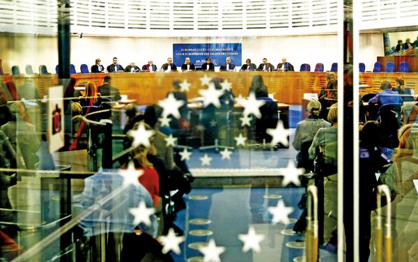Obrady Europejskiego Trybunału Praw Człowieka fot.Christophe Karaba/EPA