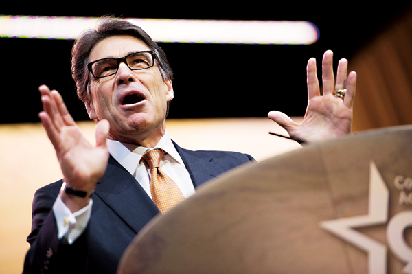 Gubernator Teksasu Rick Perry fot.Shawn Thew/EPA