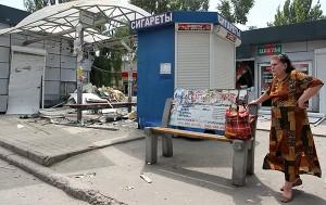 Ynisycyenia w Doniecku na Ukrainie fot.EPA/IGOR KOVALENKO