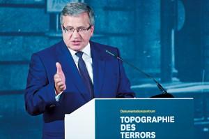 Prezydent Bronisław Komorowski fot.Maurizio Gambarini/EPA