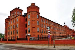 Budynek przędzalni na Księżym Młynie fot.JDavid/Wikipedia