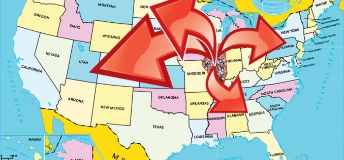 Gdzie i dlaczego migrują mieszkańcy Illinois?