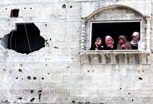 Zniszczenia w Gazie fot.Mohammed Saber/EPA