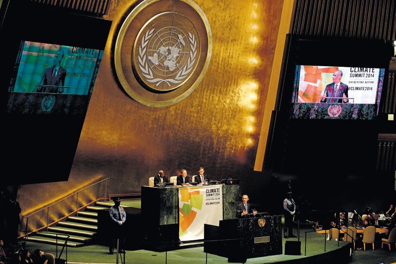 Przemówienie Baracka Obamy podczas Konferencji Klimatycznej fot.Andrew Gombert/EPA