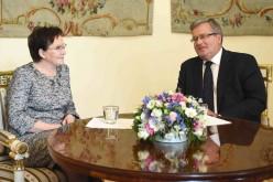 President confirms incoming PM Ewa Kopacz