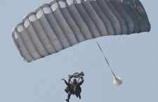 US ambassador to Poland Stephen Mull jumped with a parachute