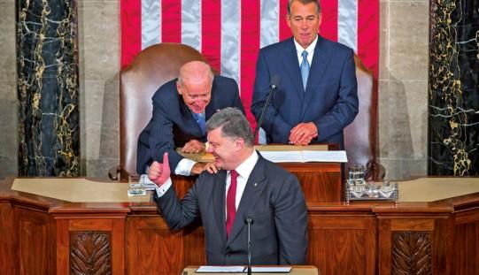 Poroszenko w Kongresie: Ukraina potrzebuje pomocy Ameryki
