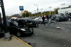 Karambol z udziałem 11 samochodów w Oak Lawn. Są zabici i ranni. WIDEO Z MIEJSCA ZDARZENIA