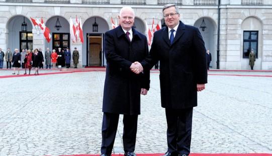 Prezydent Polski i gubernator Kanady m.in. o zacieśnianiu współpracy