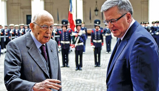 Prezydenci Polski i Włoch m.in. kryzysie ukraińsko-rosyjskim i UE