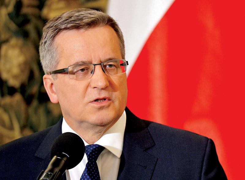 Bronisław Komorowski fot.Radek Pietruszka/EPA