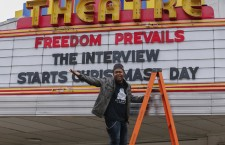The Plaza Theatre annouces it will show the movie 'The Interview' in Atlanta, Georgia.