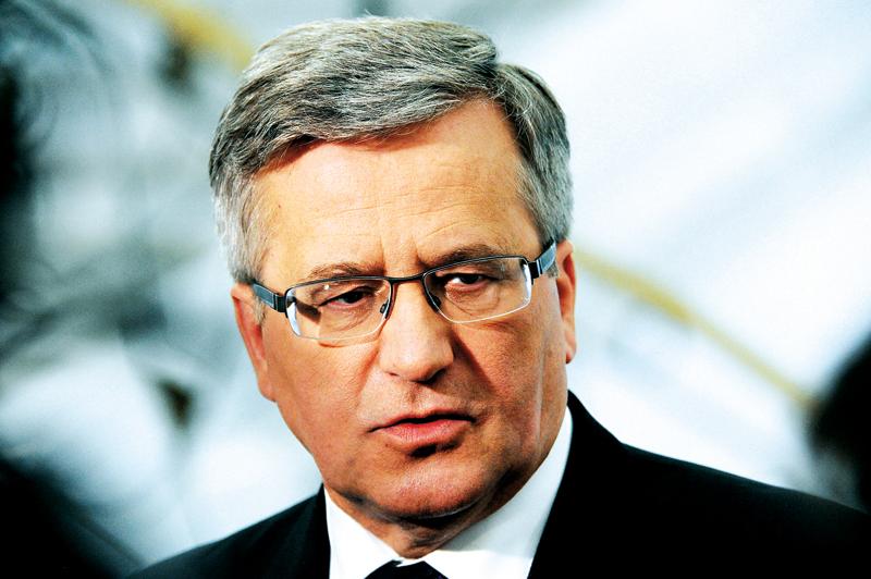 Bronisław Komorowski fot.Grzegorz Jakubowski/EPA