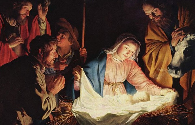 Detail from The Adoration of the Shepherds by Gerard van Honthorst (Wikipedia) -