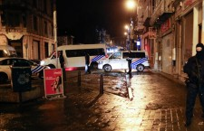 Rio Police block there street of Colline in Vervier