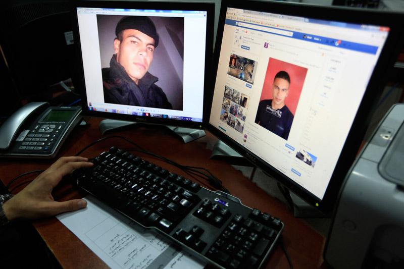 Palestyńczyk Hamza Matroukr, który zaatakował ludzi nożem fot.Alaa Badarneh/EPA