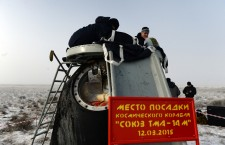Soyuz lands with ISS crew