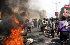 Following Houthi takeover of Taiz residents protest