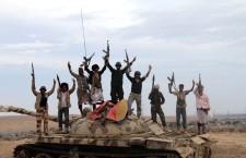 Tribal militiamen support Yemeni President Hadi