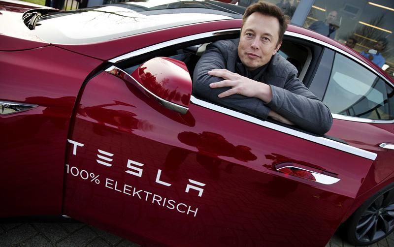 Szef Tesla Elon Musk fot.Jerry Lampen/EPA