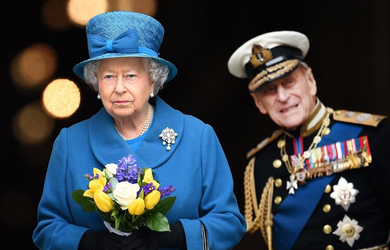 Królowa Elżbieta i książe Filip fot.Andy Rain/EPA