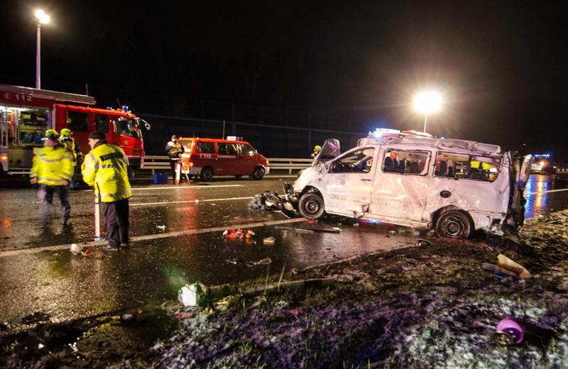 Miejsce wypadku na A4 fot.Tom Wunderlich/EPA