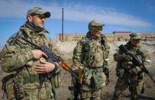 Crisis in Ukraine, volunteers soldiers training exercise