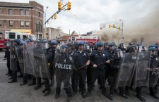 Freddie Gray burial protest