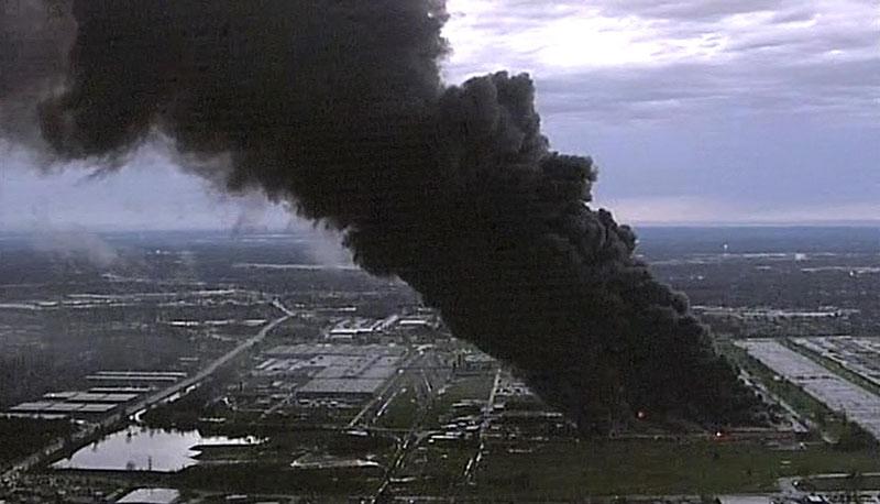 Walka z gogantycznym pożarem może potrwac nawet kilka dni fot.ABC News/screenshot