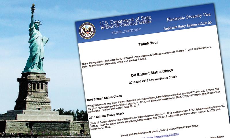fot.Jason Szenes/EPA/www.dvlottery.state.gov